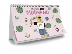Calendario de mesa 2018 Moderna de Pueblo